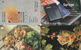 LOT 4 PHONE CARD SINGAPORE (PY2474 - Singapore