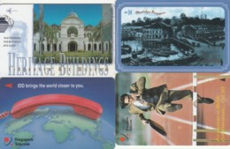 LOT 4 PHONE CARD SINGAPORE (PY2479 - Singapore