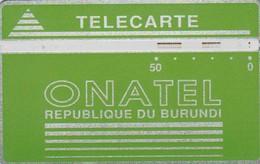Burundi,  BUR-2C, 50 Units, Green Logo - 106C, 2 Scans. - Burundi