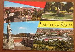 ROMA Saluti Da Vedute Stadio - Foro Italico  Cartolina 1972  Viaggiata - Stadi & Strutture Sportive