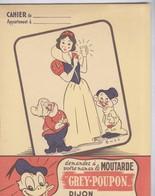 Protège Cahier Moutarde Grey-Poupon - Verres Walt Disney - Très Bon état - Mostard