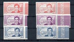 E1 Superbes Et Rares Côte D'Ivoire N° 141a+b à 143a+b ** Luxe Bord De Feuille. Côte Yver Et Tellier 2020 1258 Euros. - Unused Stamps