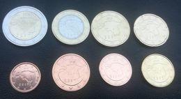 NEU 2018 Jahr Estland Kms 1 Cent - 2 Euro 3,88 Euro Unc From Mint Roll - Estonie