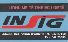 PHONE CARD ALBANIA (E60.5.2 - Albanië