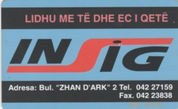 PHONE CARD ALBANIA (E60.9.6 - Albanie