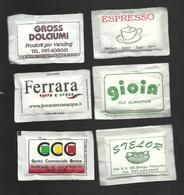 6 Bustine Zucchero Italia Varie - Lotto 25 - Azúcar