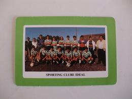 Football Futebol Sporting Clube Ideal Açores Portugal Portuguese Pocket Calendar 1990 - Tamaño Pequeño : 1981-90