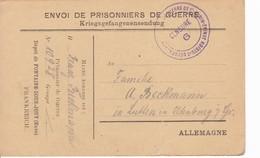 FOntaine Sous Jouy Eure Carte De Franchise Militaire Dépôt De Prisonniers De Guerre - Marcophilie (Lettres)