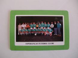 Football Futebol Esperanças Futebol Clube Açores Portugal Portuguese Pocket Calendar 1990 - Tamaño Pequeño : 1981-90