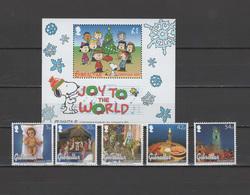 Gibraltar 2003 Michel 1058-1062, Bl. 58 Christmas, Peanuts Set Of 5 + S/s MNH - Gibraltar