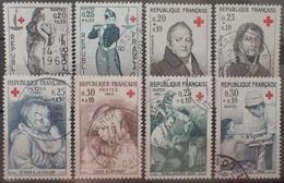 VL4380/49 - 1963/1966 - FRANCE - CROIX ROUGE - N°1400 à 1401 + 1433 à 1434 + 1466 à 1467 + 1508 à 1509 ☉ - France