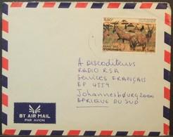 Zaire - Cover To South Africa 1982 Fauna Antelope 6,50Z Solo - Zaïre