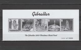 Gibraltar 2003 Christmas Black Print MNH - Gibraltar