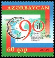 160 - Azerbaijan - 2009 - 90 Y Diplomatic Service - 1v - Lemberg-Zp - Azerbaiján