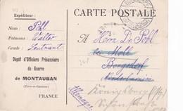 Carte De Franchise Militaire Dépôt Officiers Prisonniers De Guerre De Montauban  Tarn Et Garonne (carte Pour Officiers) - Marcophilie (Lettres)
