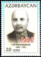 164 - Azerbaijan - 2009 - Writer J. Mammadguluzadeh - 1v - Lemberg-Zp - Azerbaiján