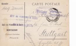Carte De Franchise Militaire Dépôt Prisonnier De Guerre De Montauban (carte Pour Non Officiers) - Marcophilie (Lettres)