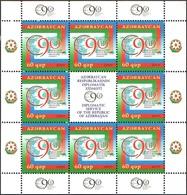 161 - Azerbaijan - 2009 - 90 Y Diplomatic Service - Sheetlet - Lemberg-Zp - Azerbaiján