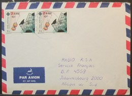 Zaire - Cover To South Africa 1984 Telecom Satellite - Zaïre