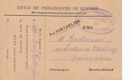 Rouen Quai De France Carte De Franchise Militaire Dépôt Prisonnier De Guerre . Censure De Rouen Croisset 1918 - Marcophilie (Lettres)