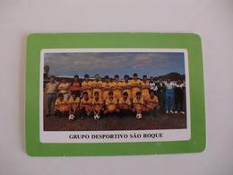 Football Futebol Grupo Desportivo São Roque Açores Portugal Portuguese Pocket Calendar 1990 - Tamaño Pequeño : 1981-90