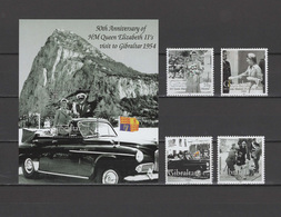 Gibraltar 2004 Michel 1078-1081, Bl. 59 50th Anniv. Of First Visit Of Queen Elizabeth II In Gibraltar Set Of 4 + S/s MNH - Gibraltar