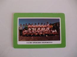 Football Futebol Clube Operário Desportivo Açores Portugal Portuguese Pocket Calendar 1990 - Tamaño Pequeño : 1981-90