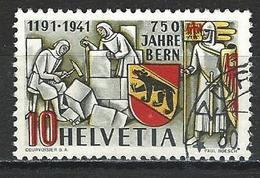 SBK 253, Mi 398 O Plattenfehler Helle Stelle Im Wappen - Variétés