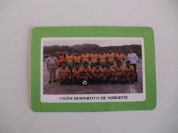 Football Futebol União Desportivo De Nordeste Açores Portugal Portuguese Pocket Calendar 1990 - Tamaño Pequeño : 1981-90