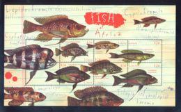 Liberia - 2000 African Fish Kleinbogen MNH__(THB-5735) - Liberia