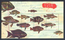 Liberia - 2001 African Fish Kleinbogen MNH__(THB-5728) - Liberia