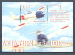 Liberia - 2001 History Of Aviation Block (5) MNH__(TH-141) - Liberia