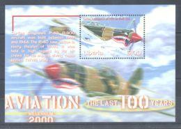 Liberia - 2001 History Of Aviation Block (6) MNH__(TH-4135) - Liberia