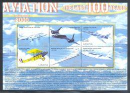 Liberia - 2001 History Of Aviation Kleinbogen (1) MNH__(THB-2080) - Liberia