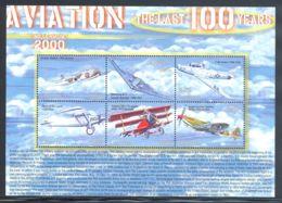 Liberia - 2001 History Of Aviation Kleinbogen (2) MNH__(THB-2079) - Liberia