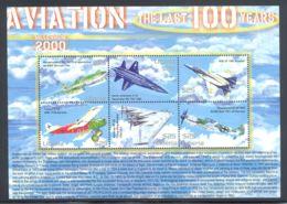 Liberia - 2001 History Of Aviation Kleinbogen (3) MNH__(THB-472) - Liberia