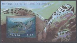 Liberia - 2001 Marine Animals Block (2) MNH__(TH-9985) - Liberia
