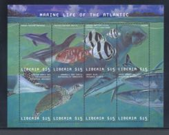Liberia - 2001 Marine Animals Kleinbogen (1) MNH__(THB-5559) - Liberia