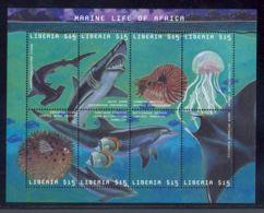 Liberia - 2001 Marine Animals Kleinbogen (2) MNH__(THB-5557) - Liberia