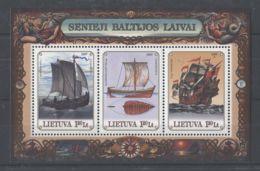 Lithuania - 1997 Ships Block MNH__(TH-6192) - Litauen