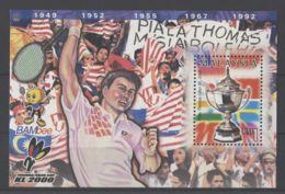 Malaysia - 2000 Badminton Tournament Block MNH__(TH-11821) - Malaysia (1964-...)