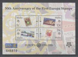 Malta - 2006 50 Years Of European Stamps Block MNH__(TH-9123) - Malta