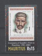Mauritius - 2001 Mahatma Gandhi MNH__(TH-18103) - Mauritius (1968-...)