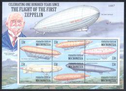Micronesia - 2000 Zeppelin Airships Kleinbogen MNH__(THB-994) - Mikronesien