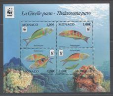 Monaco - 2016 Sea Peacock Block MNH__(TH-8741) - Blocks & Sheetlets