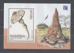 Namibia - 1999 Edible Mushroom Block MNH__(TH-10495) - Namibia (1990- ...)