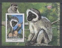 Namibia - 2004 Year Of The Monkey Block MNH__(TH-12916) - Namibia (1990- ...)