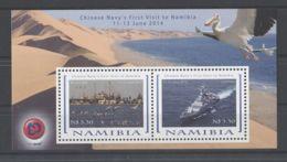 Namibia - 2014 Chinese Warships Block MNH__(TH-6737) - Namibia (1990- ...)