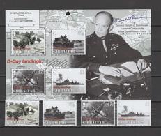 Gibraltar 2004 Michel 1088-1091, Bl. 62 WWI, D-Day Landing In Normandy Set Of 4 + S/s MNH - Gibraltar