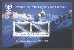 New Zealand - 2009 Polar Regions And Glaciers Block MNH__(TH-17390) - Blocks & Kleinbögen